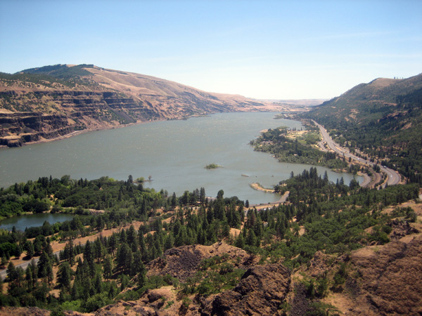 Looking East from the Rowena Crest Viewpoint