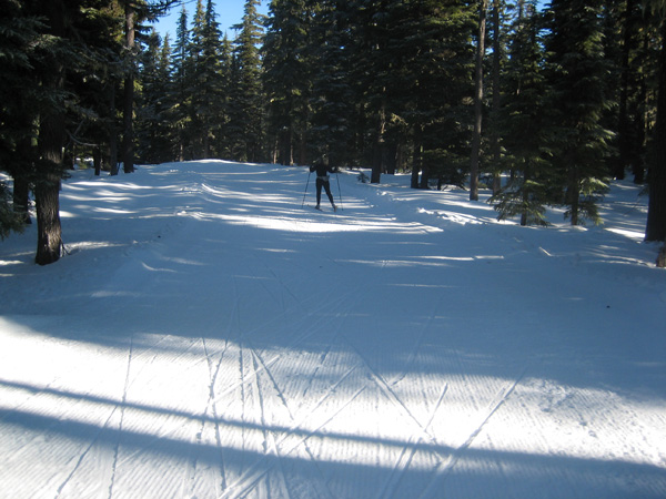 Skiing Devecka's Dive at Mount Bachelor Nordic