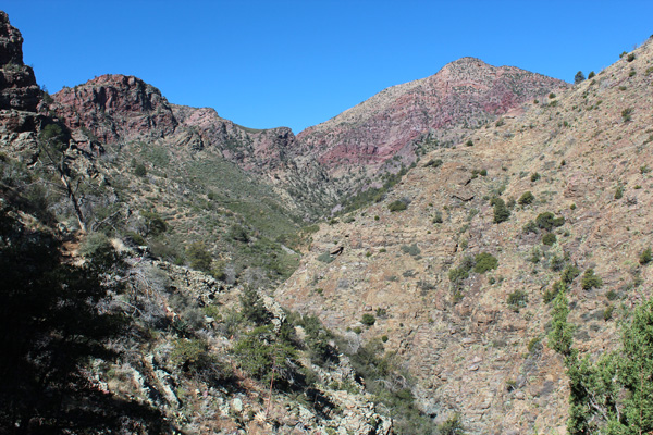 Barnhart Canyon, Mazatzal Peak, from Barnhart Trail