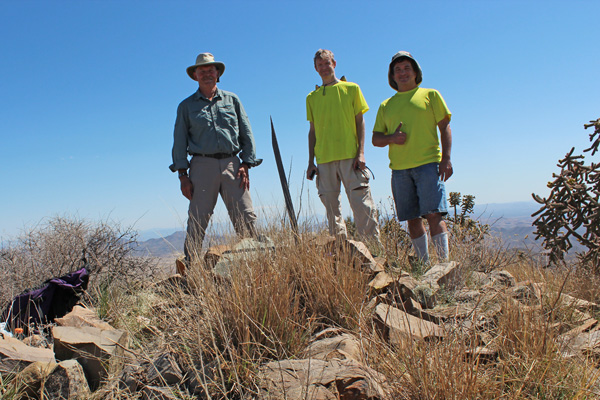 Paul, Rich, and Eric on Swisshelm Mountain summit