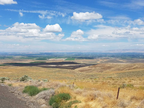 The Yakima Lower Valley from the Bickleton/Mabton Highway (Linda)