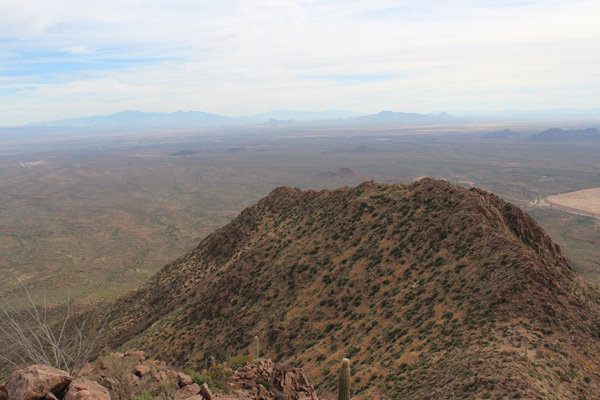 East towards the Santa Catalina, Rincon, and Tucson Mountains