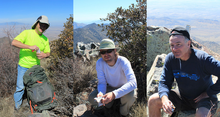 Eric Kassan, Matthias Stender, and Michael Berry on the summit