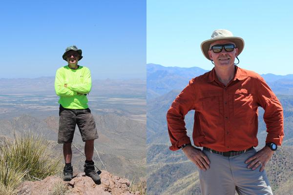 Michael Berry and myself on Chochise Head
