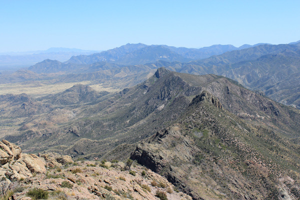 Looking SSE from Cochise Head