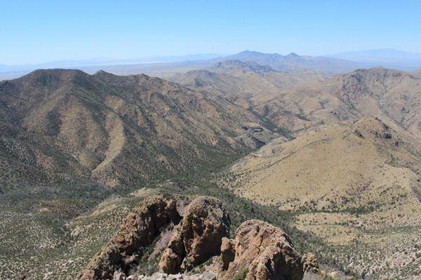 Looking Northwest from Cochise Head