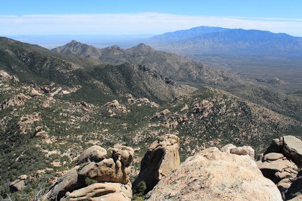 Mount Graham from the Pinnacle Ridge summit