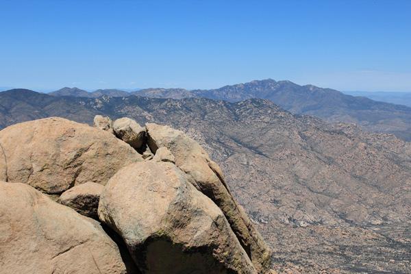 Mount Turnbull from the Pinnacle Ridge summit