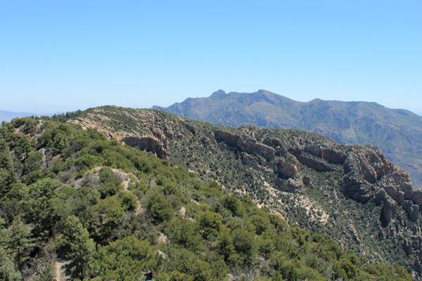 Looking southeast from the Silver Peak summit towards Portal Peak