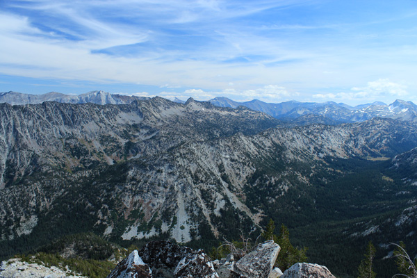 East from Elkhorn Peak summit