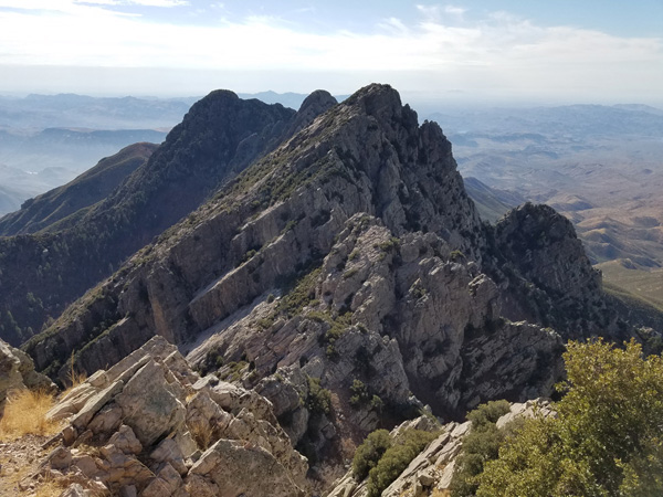 Peaks 2, 3, and 4 (right to left) from the summit of Browns Peak