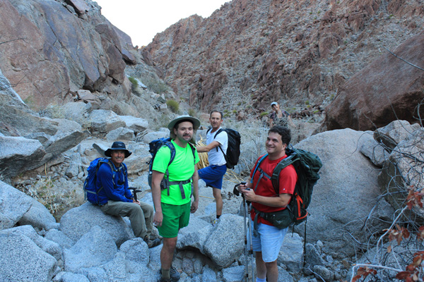 Our team in the north canyon of Sheep Mountain