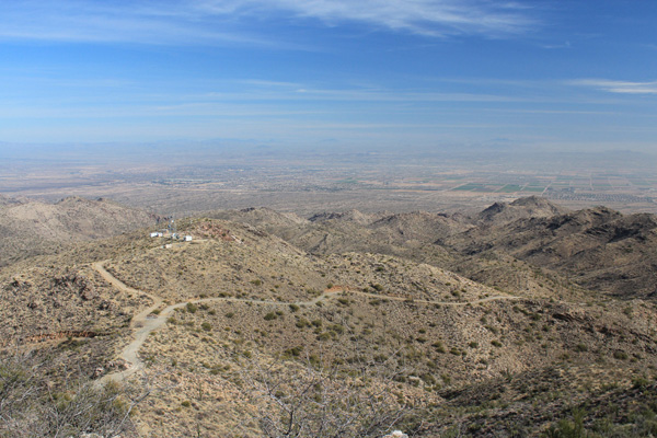 The view east from Barry Goldwater Peak across Phoenix