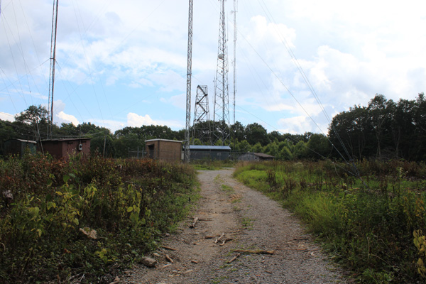 Black Mountain summit communication towers and buildings