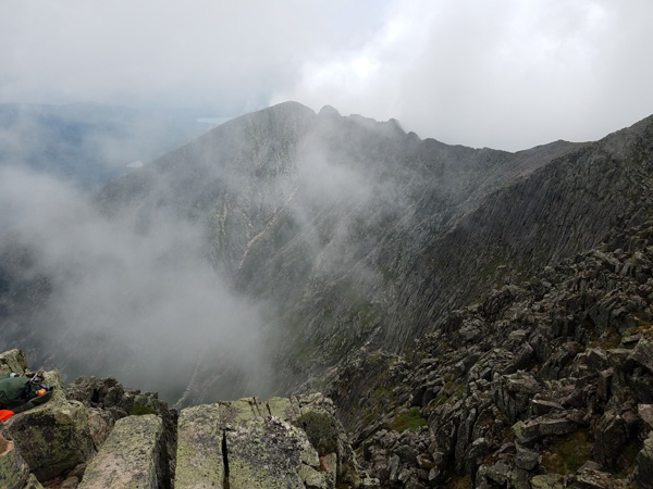 Pamola Peak from Baxter Peak, Mount Katahdin