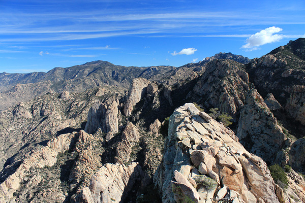 Mount Lemmon and Cathedral Rock from the summit of Table Tooth.