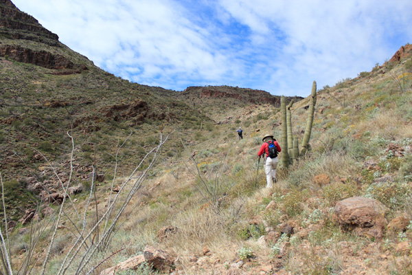 Approaching the upper saddle