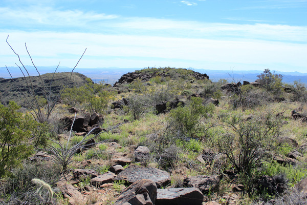 The south summit from the Mesquite Benchmark highpoint
