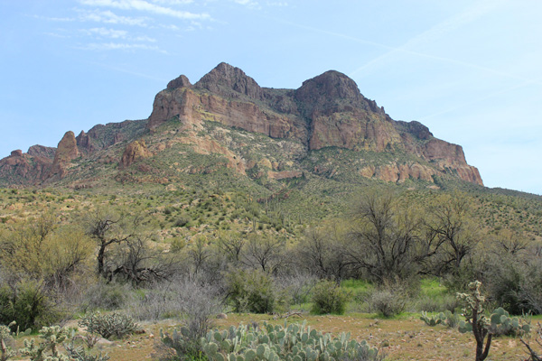 Picketpost Mountain from the Arizona Trail