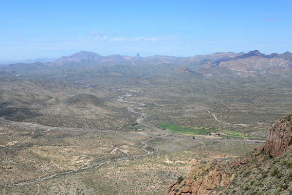 Northwest towards Superstition Benchmark and Weaver's Needle