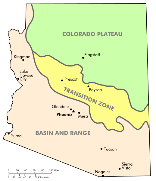 Physiographic regions of Arizona