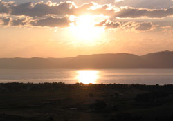Sunrise over Bear Lake, Utah