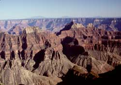 Evening view of Grand Canyon