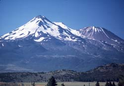 Mount Shasta and Shastina from the north