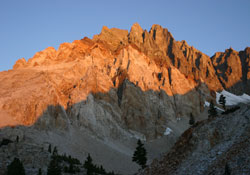 Split Mountain from Red Lake at Sunrise