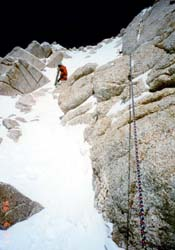 Lyle fixing line on Upper West Rib