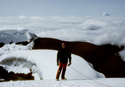 Cotopaxi summit with Chimborazo