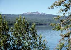 Odell Lake near Willamette Pass