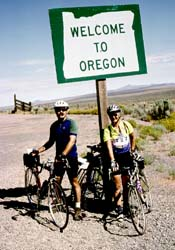 Paul & Linda enter Oregon