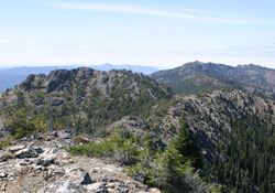 View West from Pine Creek Mountain, East Peak