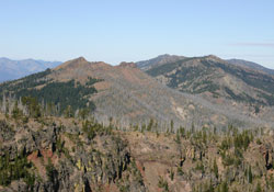 Indian Creek Butte and Pine Creek Mountain from 'Roads End'