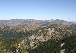 Elkhorn Crest and Crown Point from Mount Ireland