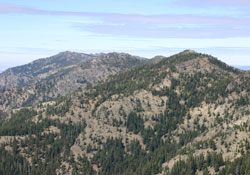 Pine Creek Mountain from Indian Creek Butte