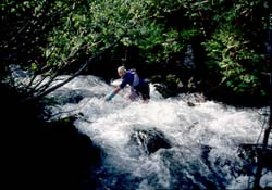Keith fording Bachelor Creek