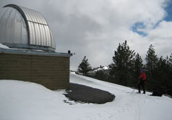 Linda Skiing at Pine Mountain Observatory