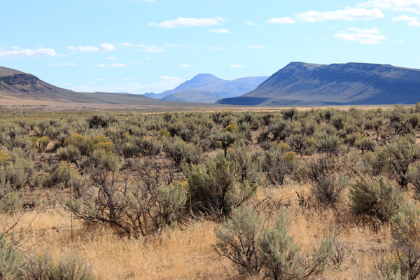 My first view of Mickey Butte from the East Steens Road south of Oregon Highway 78.