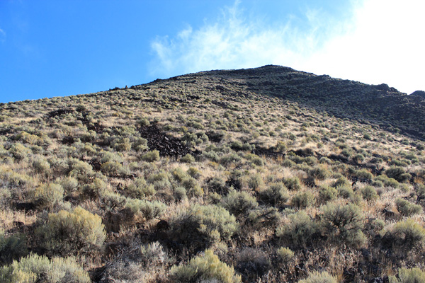 Before reaching the saddle we turned right and climbed steeply up to the south ridge of Mickey Butte.