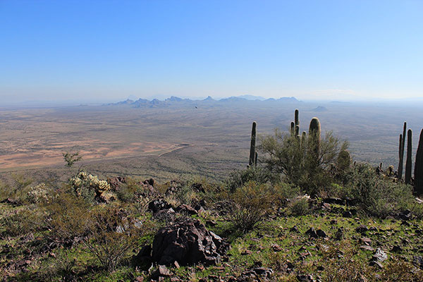 The rugged Sawtooth Mountains from the Silver Reef Mountains Highpoint