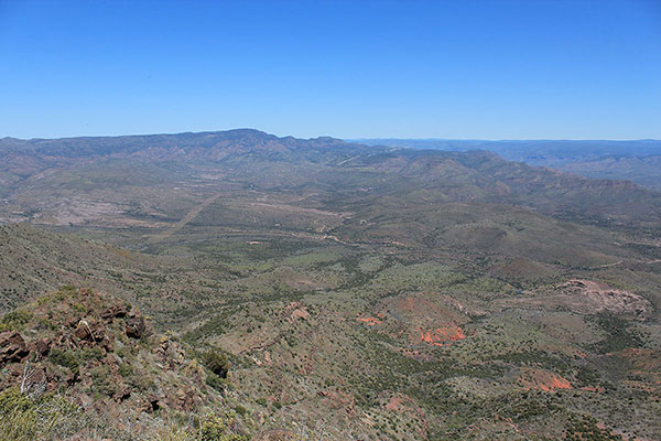 Pine Mountain to the north from the West Cedar Mountain summit