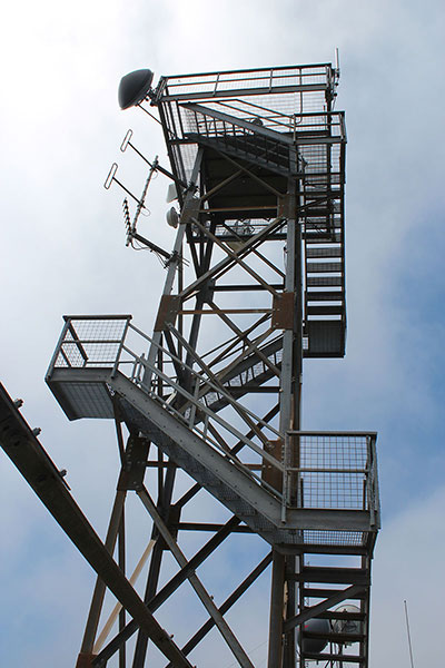The Edson Butte Lookout. The stairs were open to just below the top.