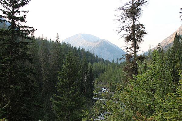 The Northwest Ridge of Sacajawea Peak, the highest peak in the Wallowa Mountains, from the Hurricane Creek Trail