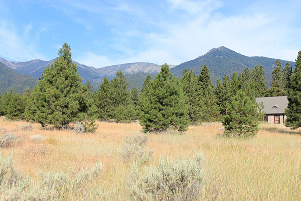 Maxwell Benchmark (center) and Hunt Mountain (right) from Running Iron Road in the Baker Valley