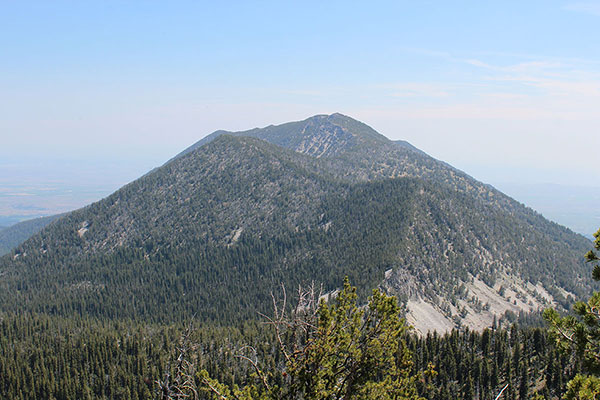 Twin Mountain rising to the east from Peak 8428 in July 2012