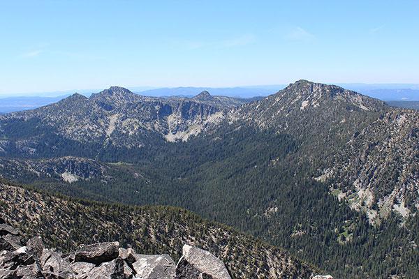 Angell Peak, Gunsight Mountain, and Van Patten Butte from Twin Mountain