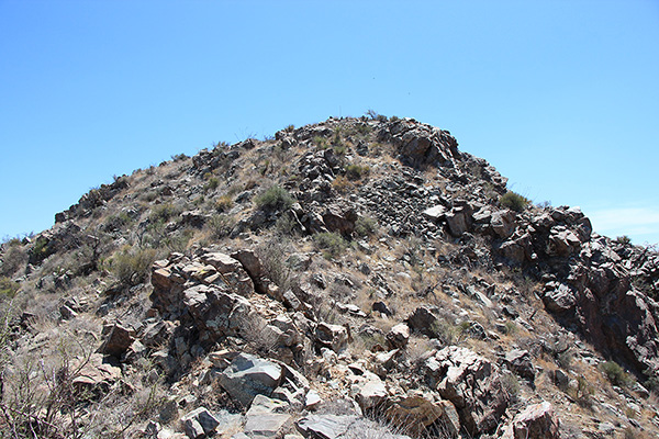 The rocky upper slopes add character to the finish of the climb