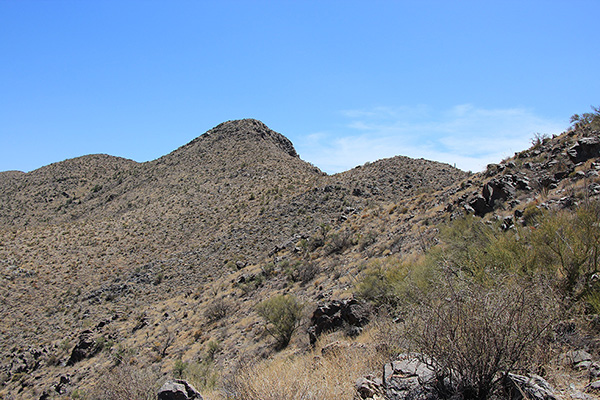 My last view of Maricopa Peak from the upper North Slope